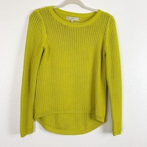 NWOT LOFT LIME  GREEN KNITTED CREWNECK SWEATER.